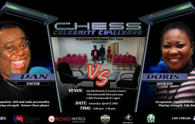 Dan Foster participates in Celebrity Chess Challenge.